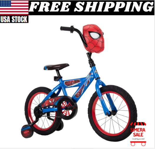 Boys Bike for Kids Spider Man Single Speed Height Adjustment Seat Durable Steel $109.99