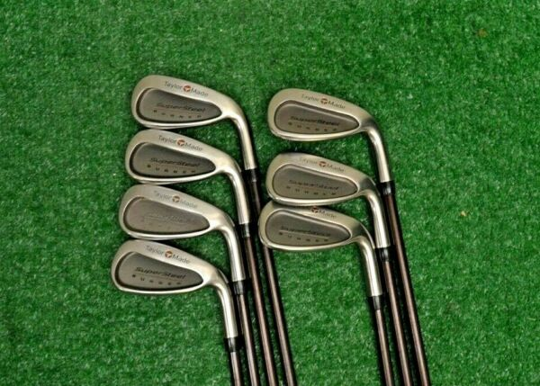 Taylormade SuperSteel Burner 3 9 Irons RH Graphite Regular Flex S236