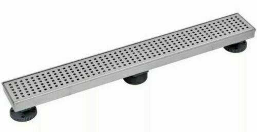 Oatey Designline 28quot; Linear Square Grate Shower Floor Drain Square Pattern
