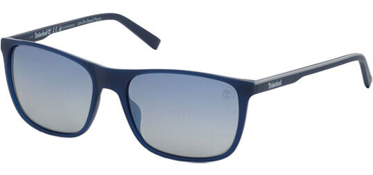 Timberland Earthkeepers Polarized Men#x27;s Matte Blue Square Sunglasses TB9195 91D $24.99