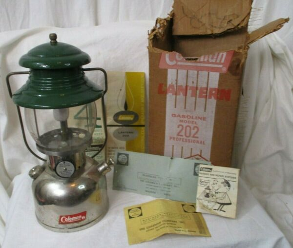 Coleman Single Mantle Lantern 202 6 54 ceramic burner sunburst globe w box