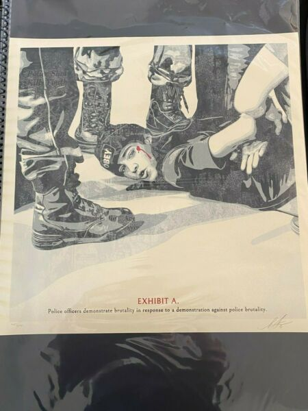 OBEY quot;The High Cost Of Free Speechquot; Print x 575 Signed Shepard Fairey $140.00