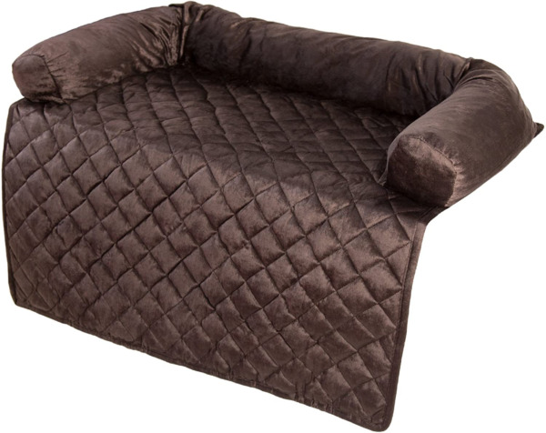 Furniture Protector Pet Cover With Bolster Brown 35X35 High Quality For Home Use $47.99