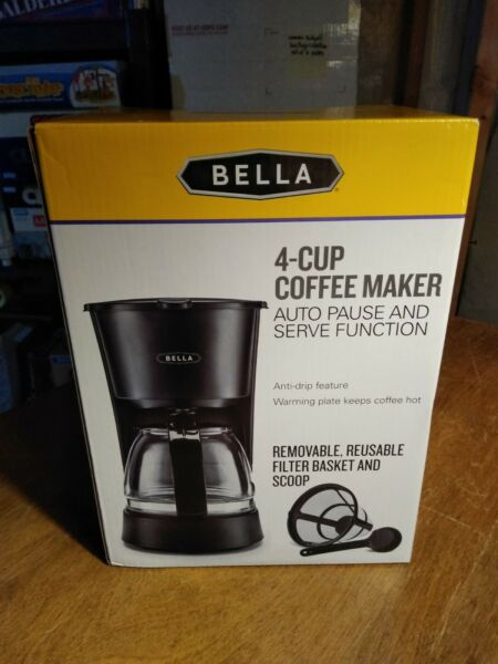 Bella 4 cup Coffee Maker Auto Pause and Serve Function 650w