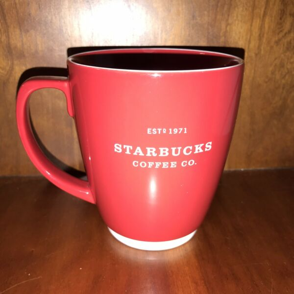 Starbucks Coffee Company Est. 1971 Red Abbey Mug 16 oz
