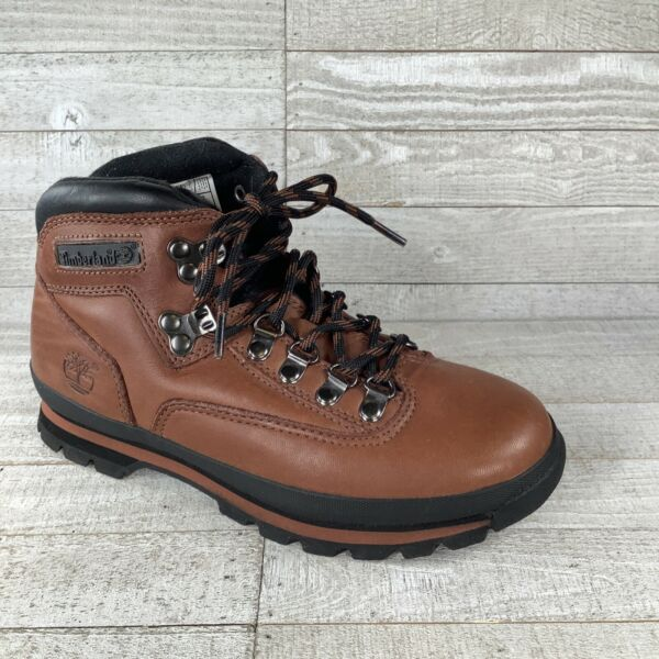 Timberland Hiking Boots Mens size 6.5 Padded Ankle Brown Leather 95607 3822 $38.88