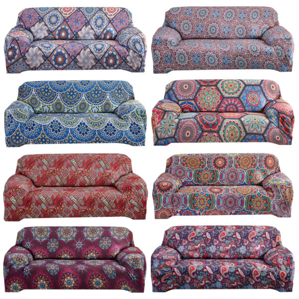 Stretch Sofa Covers Bohemian Polyester Printed Sofa Slipcovers Furniture Cover