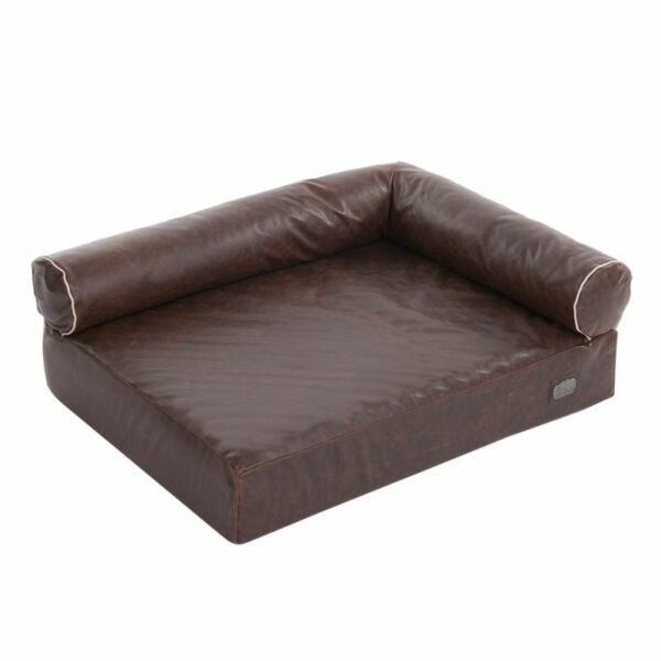 Divan Wellness Dog Sofa Brown Orthopaedic Foam Ideal For Older Dogs $151.05