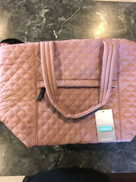 Free Country Quilted Rose Mauve Tote Bag $22.99