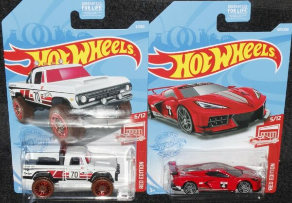 Hot Wheels 2021 Target Red Edition Dodge Power Wagon amp; Corvette C8.R MOC $11.00