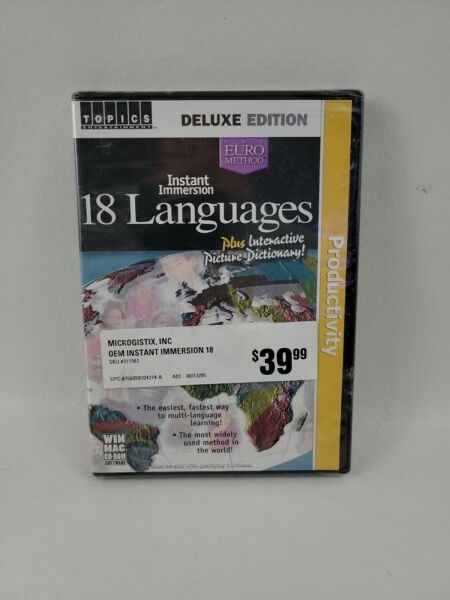 Instant Immersion 18 Languages Deluxe Edition CD ROM 2003 3 Discs Brand New $18.88
