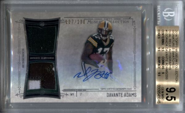 DAVANTE ADAMS BGS 9.5 2014 TOPPS MUSEUM COLLECTION DUAL PATCH ROOKIE AUTO 200 $279.99
