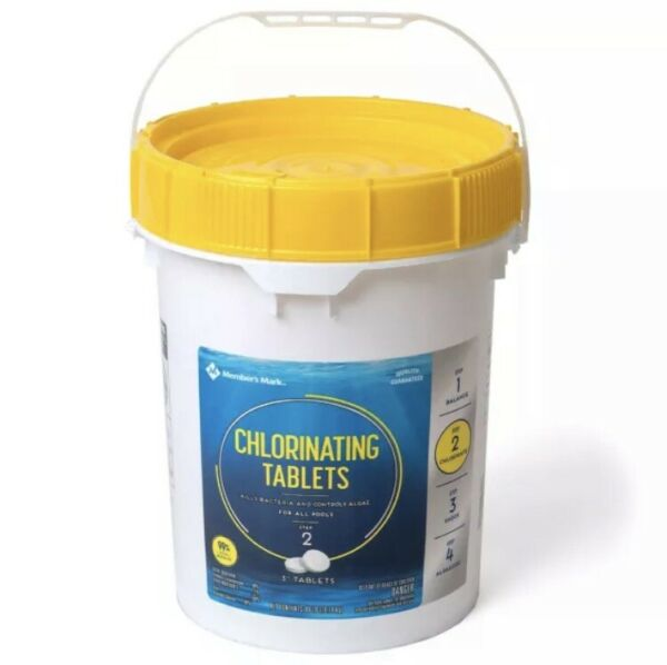 Sams Members Mark 3quot; Chlorine Swimming Pool Tablets 5 lbs 10 TABLETS ONLY Clorox