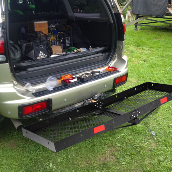 Livebest Hitch Rack Folding Mounted Cargo Carrier Luggage Basket Car 2quot; Receiver $107.99