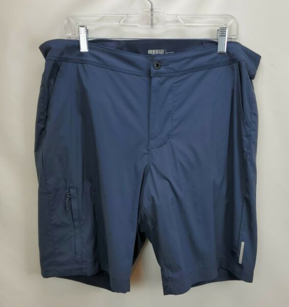 REI Co op Link Double Bike Shorts Mens Large Gray Padded Liner Mountain Cycle $45.07