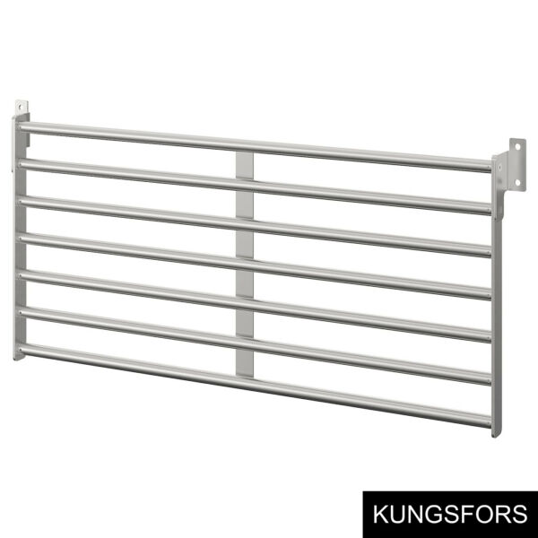 Ikea KUNGSFORS Wall rack stainless steel 803.349.19 $53.95