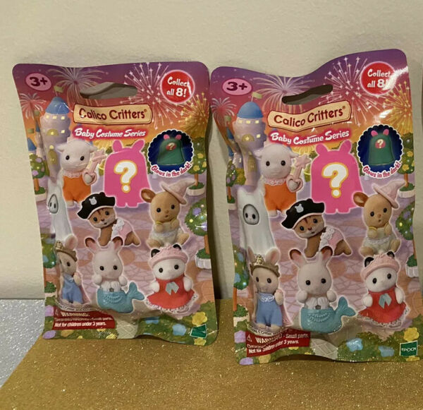 Calico Critters Baby Costume Series Set Of 3 Blind Bags New IN HAND