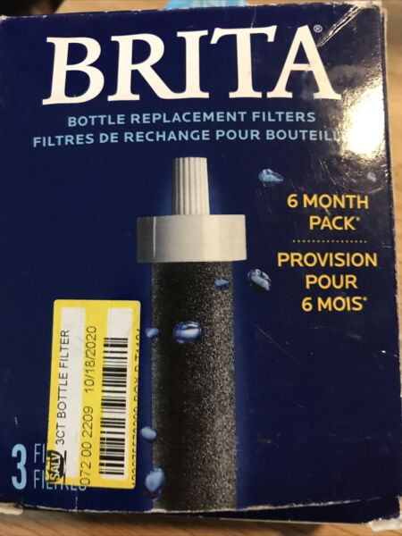 Brita Bottle Replacement Filter 6 Month Pack 3 count Open Box Free Shipping