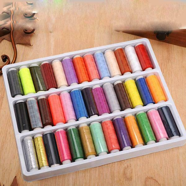 39PCS Set Sewing Thread Assortment Coil Assorted Colors 165 yards