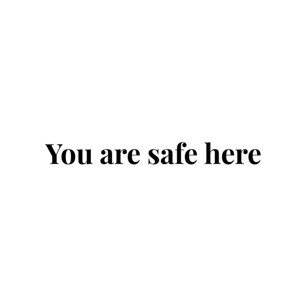Vinyl Wall Art Decal You Are Safe Here 3* x 29* Trendy Inspiring Cute $17.99