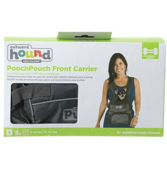 Outward Hound Pooch Pouch Carriers Lightweight Dog Pack and Front Carriers Gray $24.99