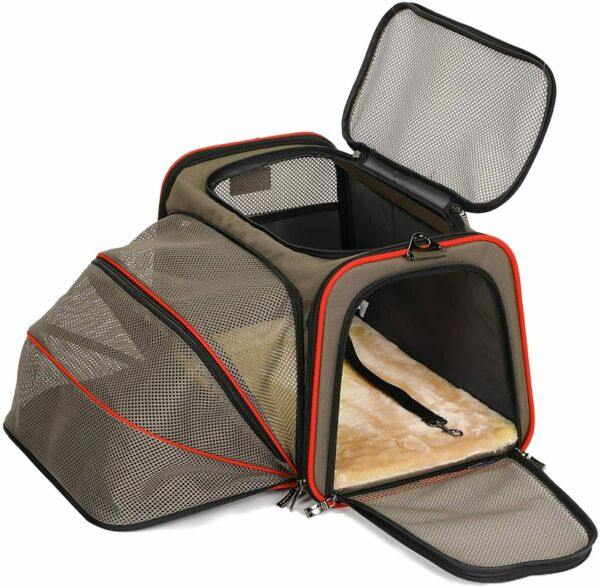 Petsfit Expandable Cat Carrier Dog CarriersAirline Approved Soft Sided Portable $58.99