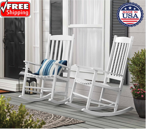 Mainstays Outdoor Wood Porch Rocking Chair Multicolor Weather Resistant ⭐⭐⭐⭐⭐ $102.95