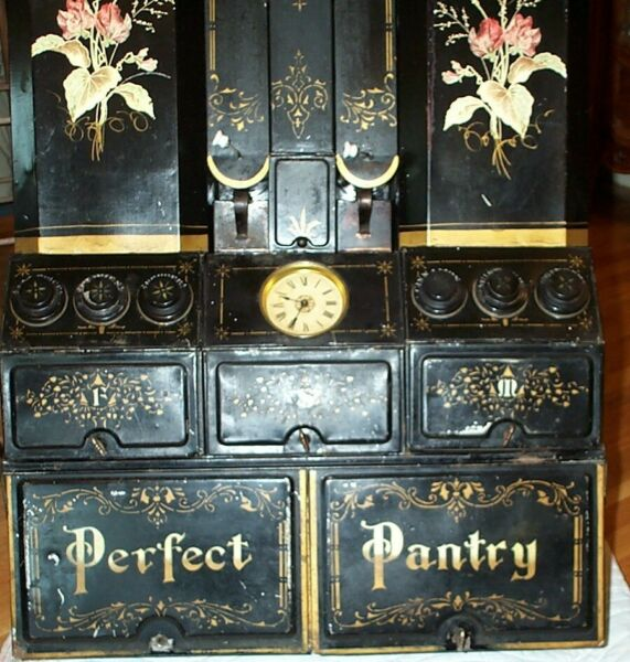 ANTIQUE KITCHEN PERFECT PANTRY 19th century COMPLETE AND ORIGINAL