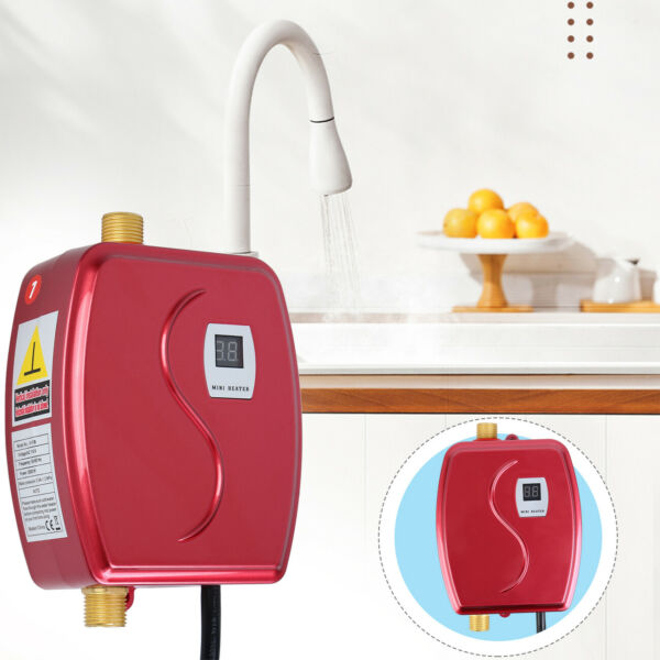 3000W Tankless Instant Electric Hot Water Heater Kitchen Bathroom Shower 110V US $54.85