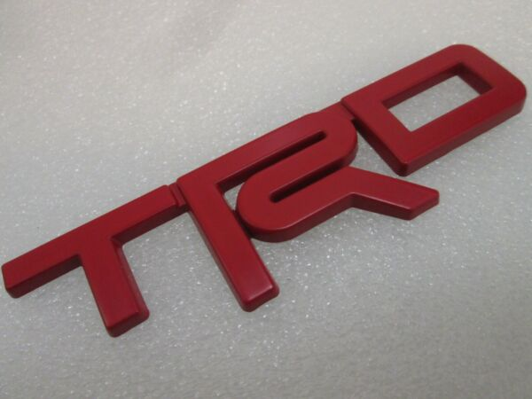 Red Emblem Badge Trunk For Toyota TRD 3D Metal Logo *ADHESIVE BACKING INCLUDED* $16.99