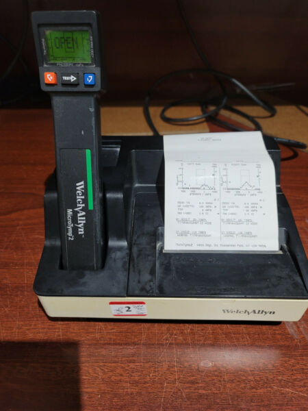 Welch Allyn MicroTymp 2 Tympanometer 71170 with Charger and Printer