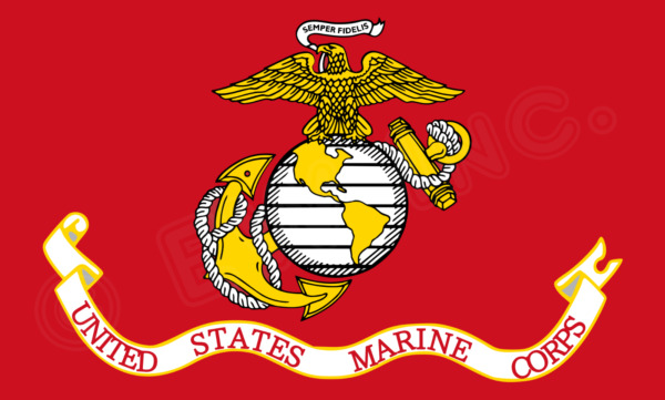 USMC UNITED STATE MARINE CORPS FLAG 3 X 5 SEMPER FI FIDELIS WITH BRASS GROMMETS $3.95