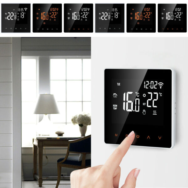 Home Smart Programmable Wifi Wireless Heated LCD Digital Thermostat App Control $39.89