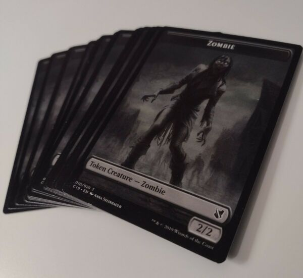 Zombie Zombie MTG Double sided Token Set of 10