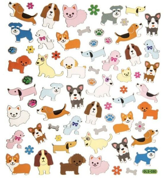 Puppy Dog Silver Foil Stickers Pets Animals Stickers Planner Papercraft Party $3.50