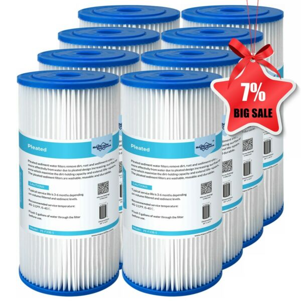 10quot; x 4.5quot; for Big Blue Whole House Sediment Pleated Water Filter 5 20 50 Micron $68.07
