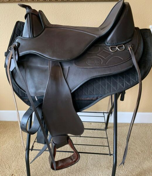 Black Forest Town amp; Country Western Treeless Leather Saddle 16quot; PRISTINE