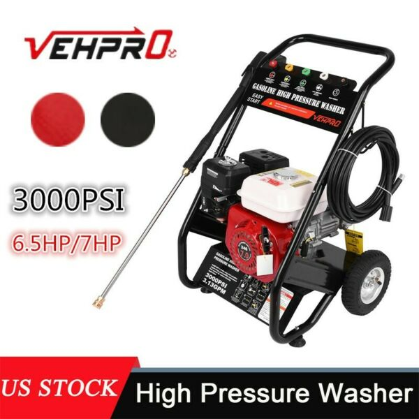 3000PSI 7HP Petrol Gas Cold Water High Pressure Washer With Spray Gun USA $278.92
