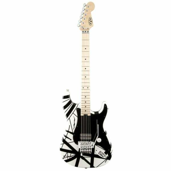 EVH Striped Series Electric Guitar White with Black Stripes $763.88