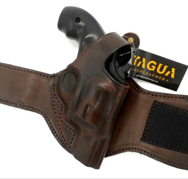 TAGUA Brown Leather Right Hand ANKLE Holster for TAURUS 856 2quot; REVOLVER