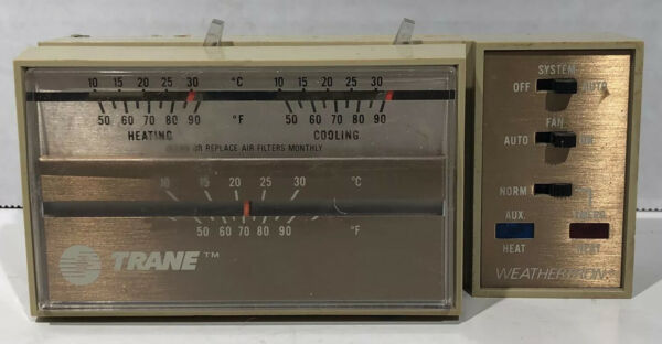 Trane Heat Pump Thermostat Weathertron Vintage Used As Is $15.99