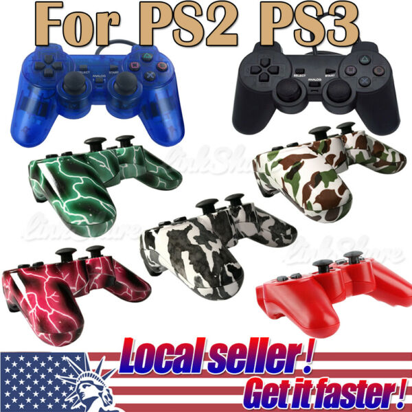 US SHIP Game Controller Joypad Pad For Sony PS2 Playstation 2 PS3 Playstation 3 $17.99