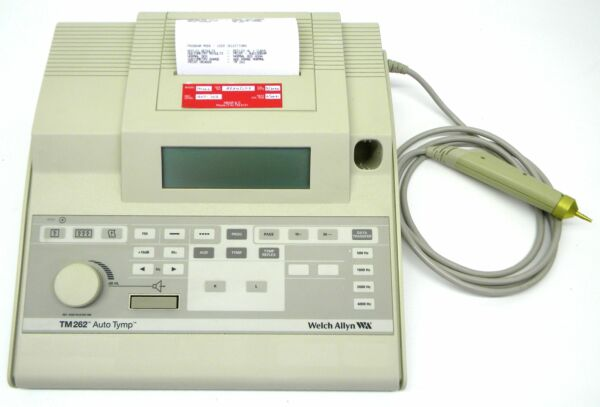 Welch Allyn TM 262 Auto Tymp Tympanometer Ipsilateral Acoustic Reflex GSI 38