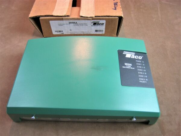 NOS TACO NO.SR506 4 BOILER CONTROL amp; SWITCHING RELAY 6 ZONE W PRIORITY $169.99