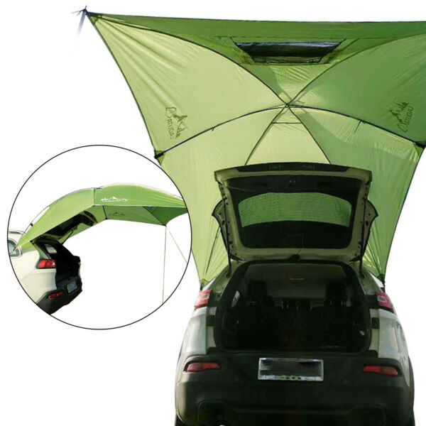 Awning Rooftop Car Tent SUV Shelter Truck Camper Outdoor Camping Canopy Sunshade $76.99