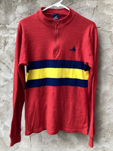 Rare Men#x27;s Vintage CANNONDALE Bike Cycling Long Sleeve Shirt Jersey Made in USA $59.00