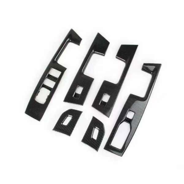 ABS Carbon Grain Window Switch Panel Cover Trim For 2021 Ford F150 F 150 $74.26