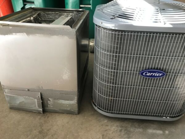 Carrier 1.5 ton A C complete with condenser and evaporator unit. Exc condition $850.00