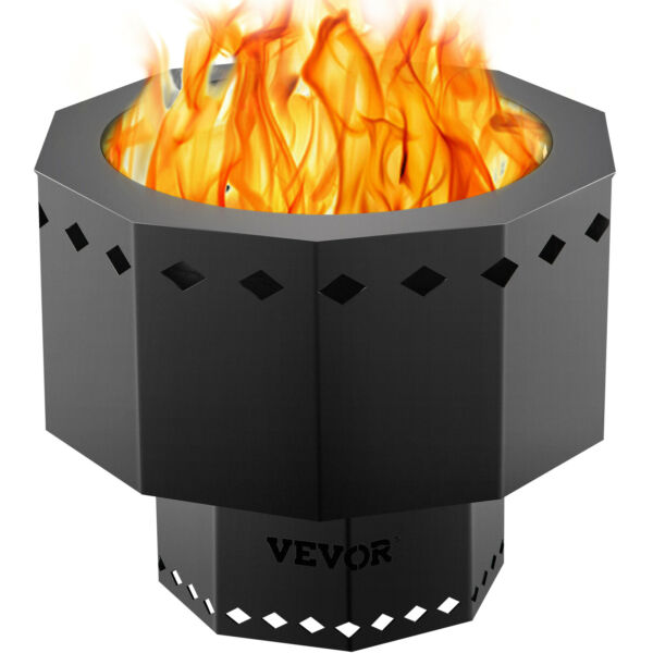VEVOR 15 inch Smokeless Fire Bowl Pit for Outdoor Wood Pellet Burning Spark $59.99