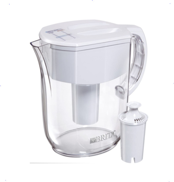 Brita Everyday Water Filter Pitcher with 1 Filter White Large 10 Cup